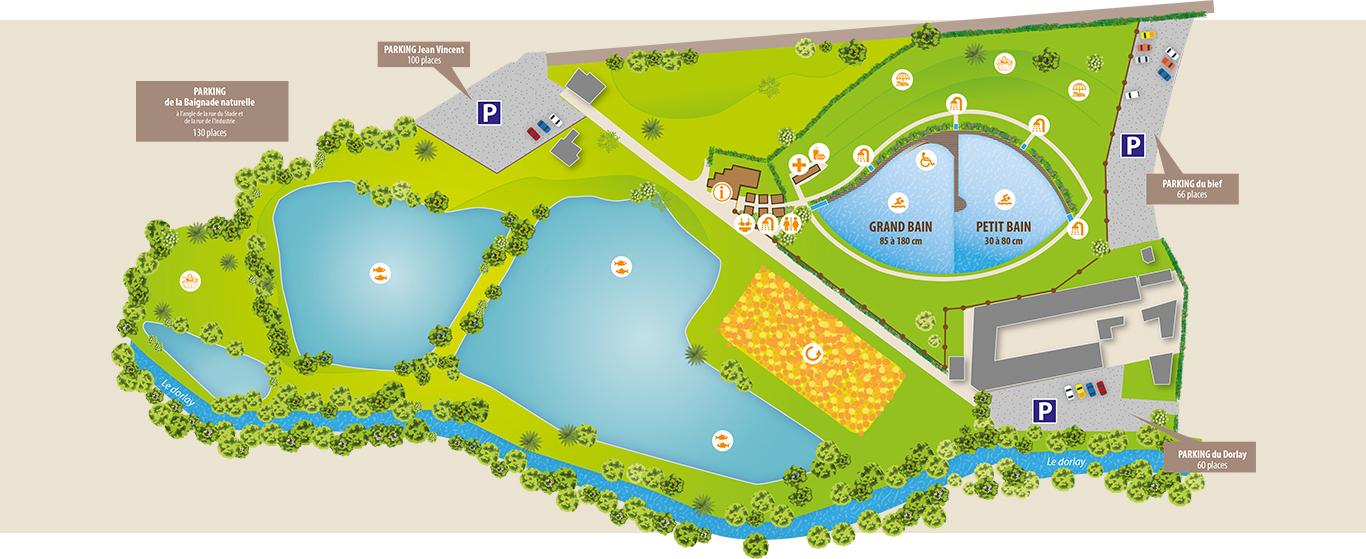 Plan du plan d'eau